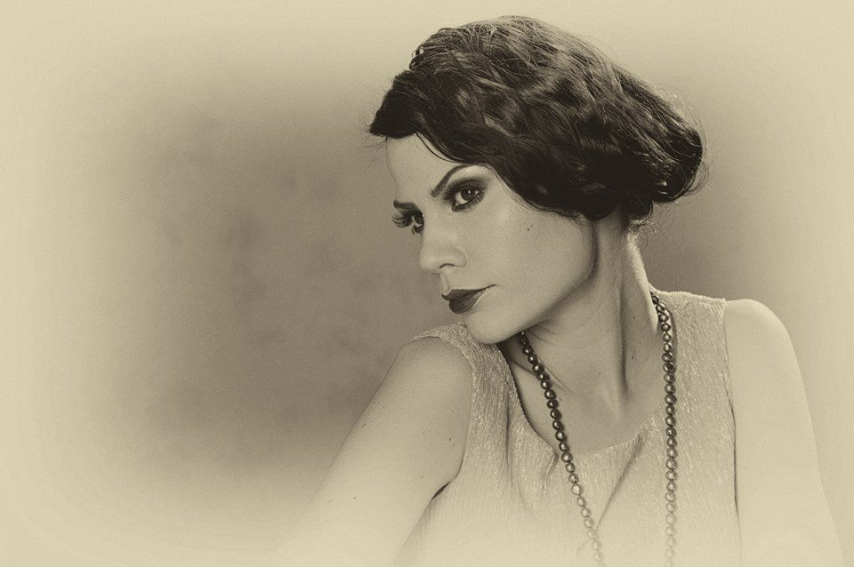 rei kennex retro 1920 black and white photo portrait