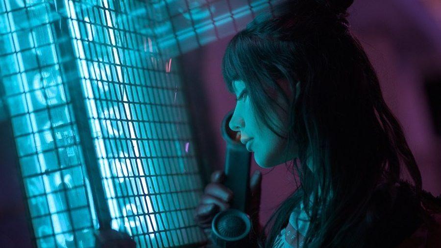 rei kennex cyberpunk portrait neon